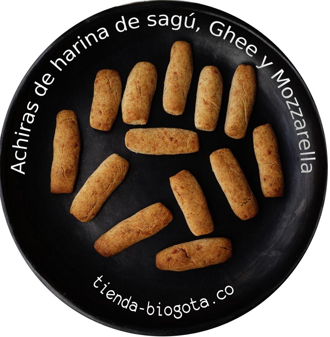 Achiras de Sagú, Ghee ( mantequilla clarificada ) y Mozzarella.